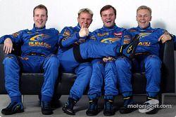 Petter Solberg, Phil Mills, Tommi Makinen y Kaj Lindstrom