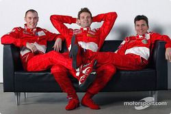 Richard Burns, Marcus Gronholm y Gilles Panizzi
