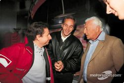 Jean Todt, Gerhard Berger y Gianni Agnelli