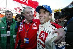 Guy Fréquelin and rally winner Sébastien Loeb