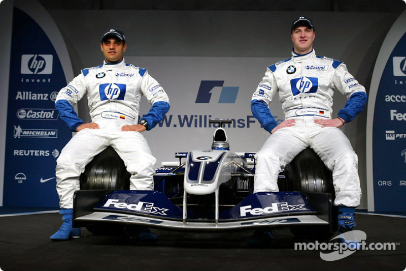 Juan Pablo Montoya ve Ralf Schumacher ve yeni BMW Williams F1 FW25