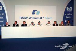 Press conference: Frank Williams, Gerhard Berger, Sam Michael, Marc Gene, Juan Pablo Montoya, Ralf S