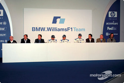 Conferencia de prensa: Frank Williams, Gerhard Berger, Sam Michael, Marc Gene, Juan Pablo Montoya, R