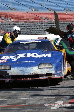 Pitstop for #46 Morgan Dollar Motorsports Corvette: Charles Morgan, Rob Morgan, Lance Norick, Jim Pace