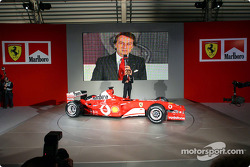 Luca di Montezemelo with the new Ferrari F2003-GA