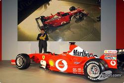 Ross Brawn with the new Ferrari F2003-GA