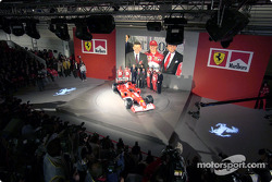 Ferrari top management with the new Ferrari F2003-GA