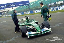 Mark Webber stopped, track