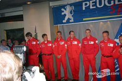 Conferencia de prensa del Equipo Peugeot en Karlstadt