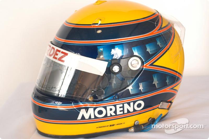 Roberto Moreno's helmet