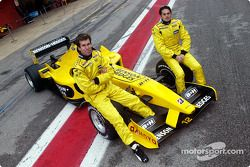 Ralph Firman and Giancarlo Fisichella with the Jordan EJ13