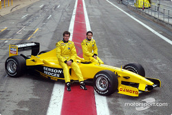 Ralph Firman y Giancarlo Fisichella con el Jordan EJ13