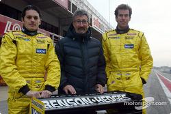 Giancarlo Fisichella, Eddie Jordan y Ralph Firman