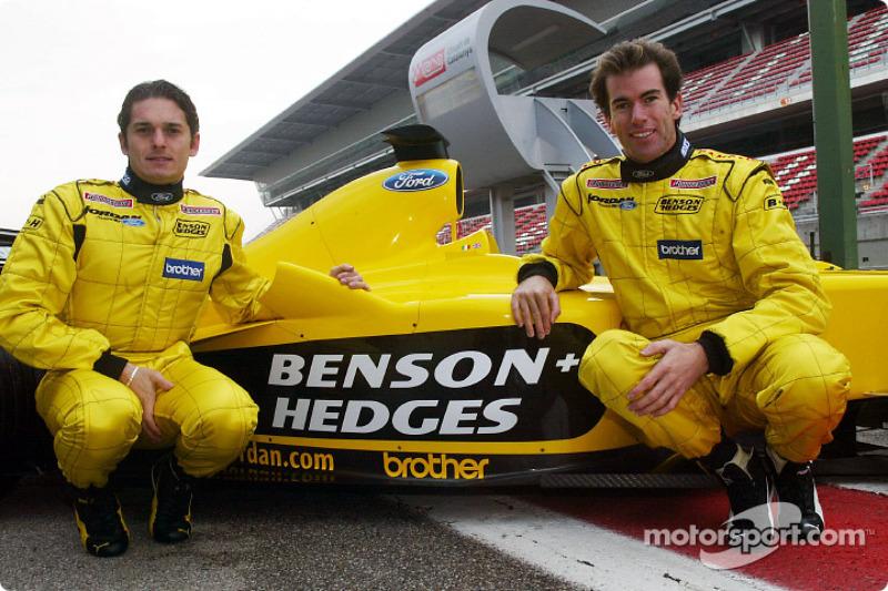 Giancarlo Fisichella y Ralph Firman con el Jordan EJ13