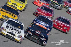 Dale Jarrett leads Robby Gordon and Matt Kenseth
