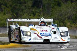 J.J. Lehto testing the Audi R8 for the first time at Moroso (Florida)
