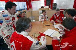 Briefing at Citroën Sport with Sébastien Loeb, Carlos Sainz and Jean-Claude Vaucard