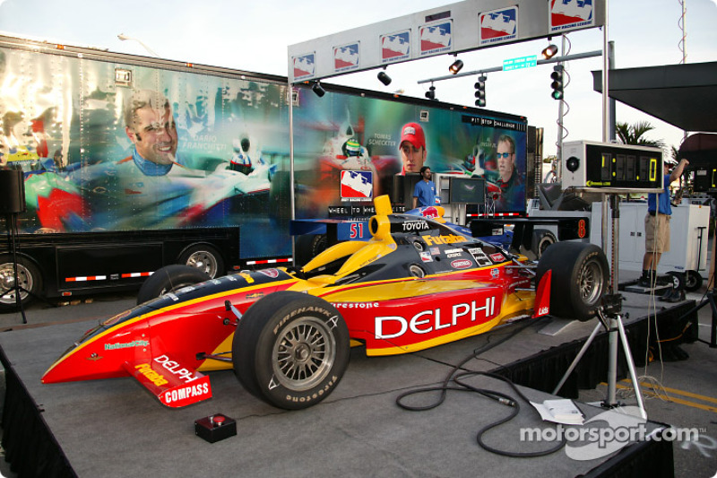 Toyota Indy Feat held in South Beach, Miami: the Delphi show car at