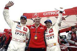 Carlos Sainz, Guy Fréquelin and Marc Marti celebrate win