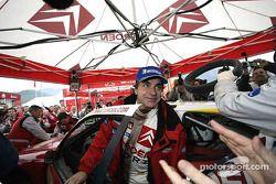Carlos Sainz celebrates win