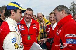 Carlos Sainz, Claude Satinet and Guy Fréquelin