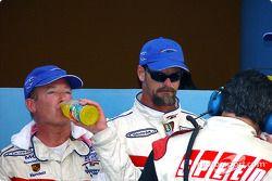 Daytona Prototype and overall winners Hurley Haywood and J.C. France