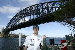 Mark Webber visits Sydney