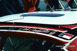Dale Earnhardt Jr.'s car on the grid
