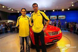 Giancarlo Fisichella y Ralph Firman en el Melbourne Motor Show