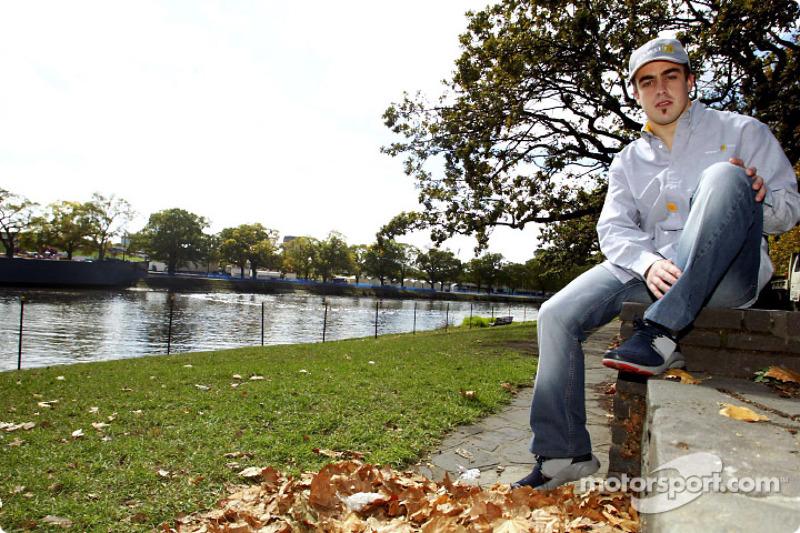 Fernando Alonso visits Melbourne