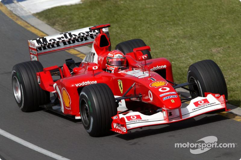 Şampiyon: Michael Schumacher, İkinci: Kimi Raikkonen, Puan Farkı: 2.00 (2003)