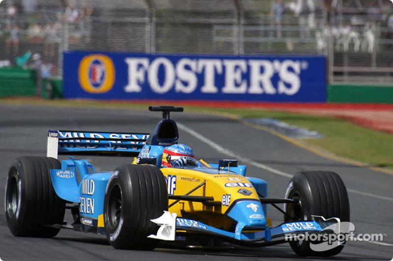Primer gran premio en los puntos: GP de Australia 2003 (2 puntos al ser 7º)