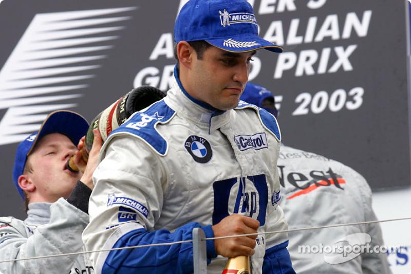 El podio: Juan Pablo Montoya