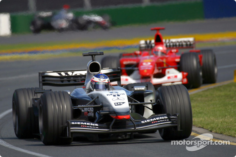 Kimi Raikkonen y Michael Schumacher