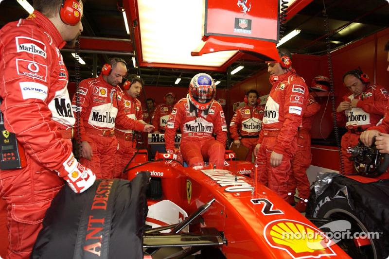 Rubens Barrichello se prepara