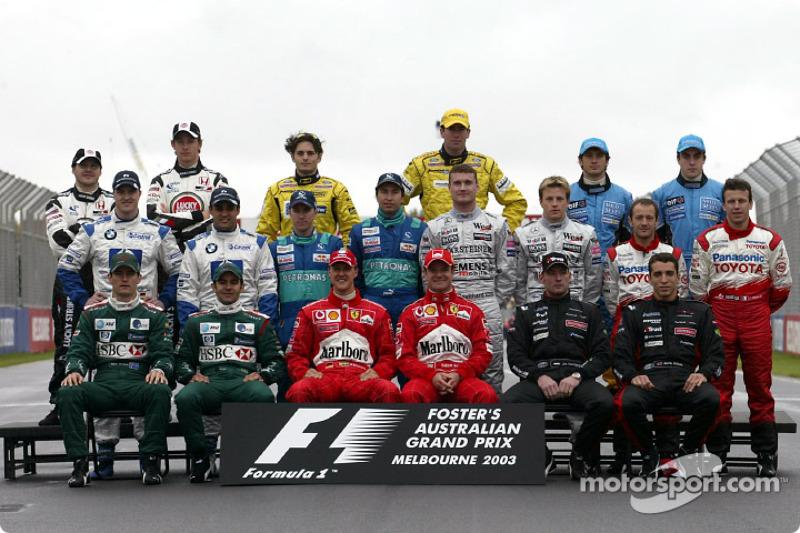 Clase Pilotos del campeonato mundial de Fórmula 1 2003