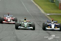 Olivier Panis, Mark Webber y Nick Heidfeld