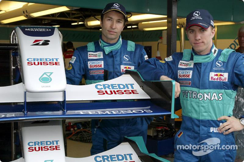 Heinz-Harald Frentzen y Nick Heidfeld