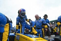 Jarno Trulli sur la grille de départ
