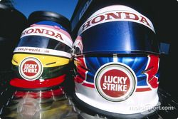 Jacques Villeneuve and Jenson Button's helmets