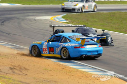 Eliseo Salazar (66) spins in turn four just in front of a Bentley driven by Tom Kristensen