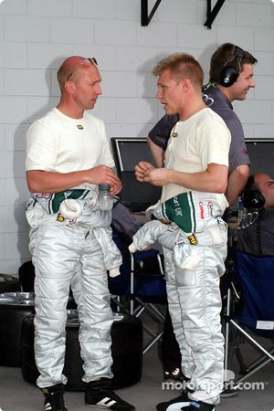 Perry McCarthy and Mika Salo