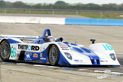 Andy Wallace made ALMS history Wednesday by setting the fastest time in afternoon practice; the Dyson car became the first from the ALMS' LMP 675 class for smaller Prototypes to set fast time in a practice session