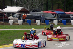 Briggs Junior Sportsman-1 Lite 00-C.J. Lintner, #92-Michael Cenzi and #3-Chance Rice