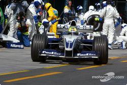 Ralf Schumacher fuera de los pits