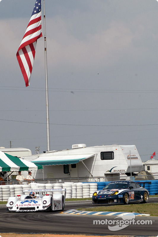 #12 American Spirit Racing Riley & Scott MK III C: Michael Lewis, Tomy Drissi et #43 Orbit Racing Po