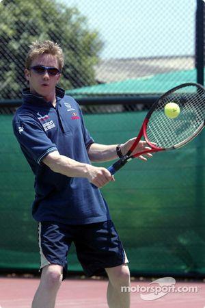 Sauber fitness training camp Alor Setar: Nick Heidfeld plays tennis