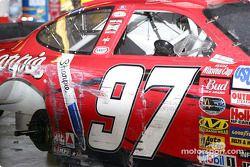 El auto de Kurt Busch tras la carrera