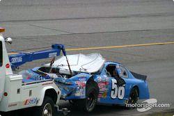 Auto dañado de Tim Sauter