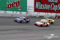 Ron Hornaday leads Johnny Sauter and Scott Riggs